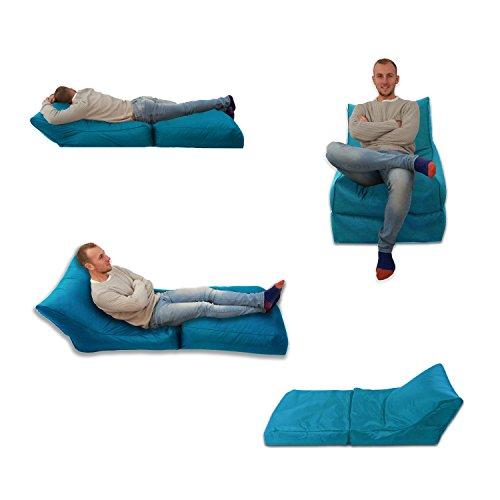 MaxiBean Sitzsack/Sessel, blaugrün, Aqua, für Innen und Außen, Extra groß, Gaming-Sitz, XXXL, Wetterfest, Wasserabweisend