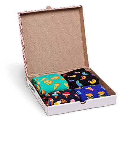 Happy Socks Junkfood Gift Box Calze, Multicolore (Multicolour), 4/7/2018 (Taglia Produttore: 36-40) Donna