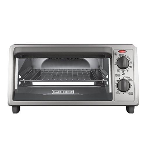 BLACK+DECKER 4-Slice Countertop Toaster Oven, Stainless...