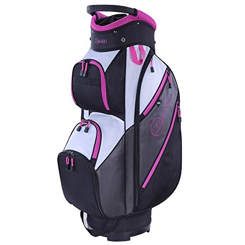 Ram Golf Lightweight Ladies Cart Bag with 14 Way Full Length Dividers Grey/Pink