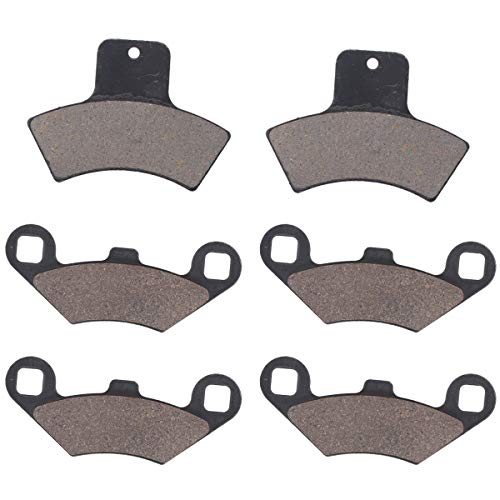 MOTOKU Front & Rear Brake Pads for Polaris Sportsman 500 4x4 HO Scrambler 400 Trail Blazer 250