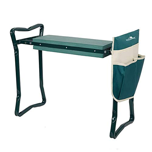 LUCKYERMORE Garden Kneeler and Seat Heavy Duty Gardening Bench for...