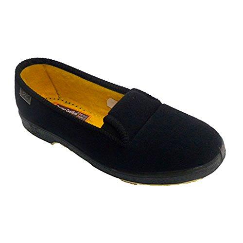 Zapatilla Mujer de Persona Mayor con Gomas a los Lados Doctor Cutillas en Negro Talla 38