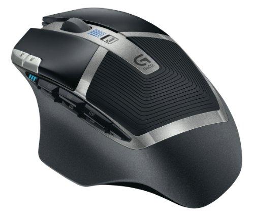 Logitech G602 Ratón Inalámbrico, 2,500 dpi, 11 Botones Programables,...