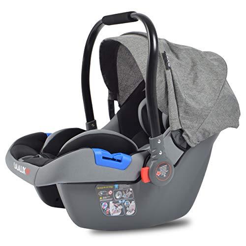 Lalalux Autositz, leichte Babyschale für Auto und Buggy, Shop\'n\'Drive-System-Option, sicherer Kindersitz fürs Baby, mit dem Kinderwagen kombinierbar, stabiler Baby Autositz für ein Travelsystem