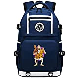 GOYING Dragon Ball Anime Cosplay Bookbag College Bag Mochila Mochila Escolar con Puerto de Carga USB-D