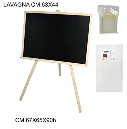 LAVAGNA NERA GESSO CON CAVALLETTO 63x44 CM (60x40) BIMBI MENU BAR PUB + OMAGGIO