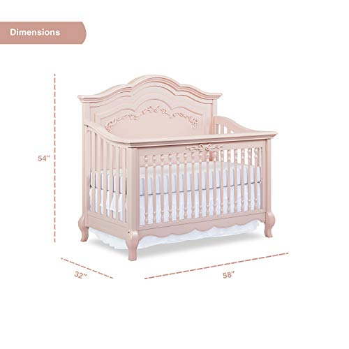 Product Image 5: Evolur Aurora 5-in-1 Convertible Crib, Blush Pink Pearl