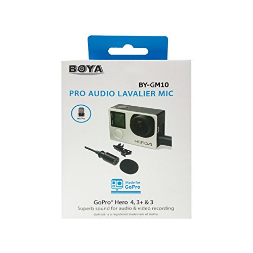 BOYA BY-GM10Lavalier Audio Pro Mini USB a condensatore per GoPro hero4, Hero3+, Hero3
