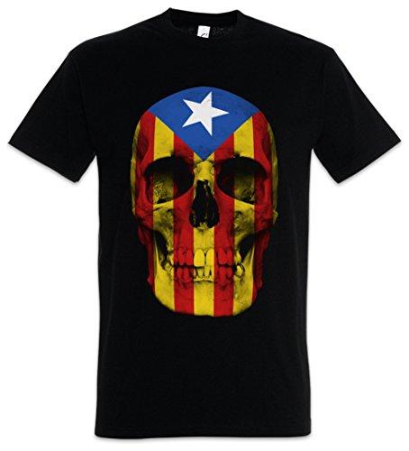 Urban Backwoods Catalonia Skull Flag Camiseta De Hombre T-Shirt Negro Talla 3XL