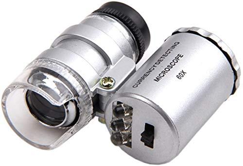 Grow Room Microscope - 60x Handheld Mini Pocket LED Loupe Magnifier -...