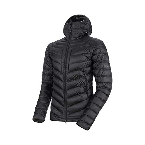 Mammut Herren Broad Peak Hooded Daunen-Jacke mit Kapuze, Black-Phantom, L
