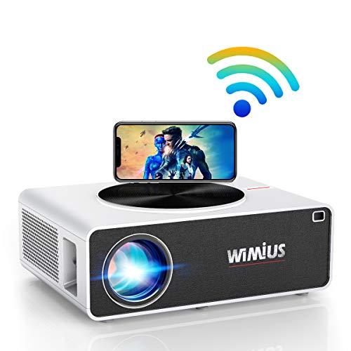 Proiettore WiFi,WiMiUS 7200 Lumen Videoproiettore Full HD Nativa 1920x1080P LED Proiettore Supporto 4K Schermo 300' per...