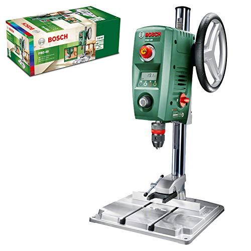 Bosch Home and Garden 0603B07000 Trapano a Colonna per Acciaio e Legno, 710 W, Verde13 mm e 40 mm, 200  850 / 600  2.500 giri/min