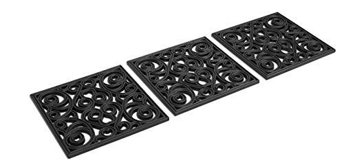 BIRDROCK HOME 12 x 12 Rubber Stepping Stones Tile - Set of 3 -...