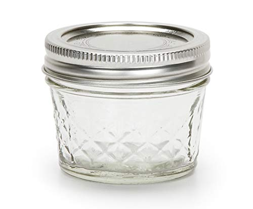 Ball - Bocca Normale 4 oncia. Cassaforte di Cristallo Quilted del congelatore dei vasi di Mason della Gelatina - 12Count
