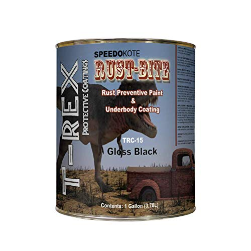 Speedokote Paint Over Rust with Underbody Gloss Black Paint, Gallon, TRC-15, Rust-BITE