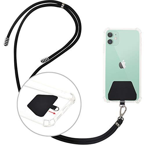 takyuスマホ ストラップ 携帯 ストラップスマートフォンストラップ 斜め掛けストラップ 肩掛けストラップ長さ調整可能 携帯/鍵/カメラに対応 全機種対応(ブラック)