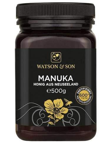 Watson & Son Manuka Honig MGO 600+ 500g, Zertifizierte Premium Qualität aus Neuseeland