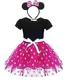 Jurebecia Filles Toddler Polka Dot Pois Robe Princesse Bowknot Tutu + Mini Mouse...