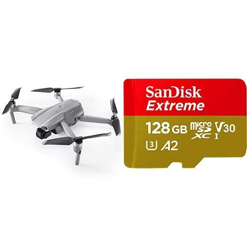 DJI Mavic Air 2 Drone Quadcopter UAV con Telecamera 48MP 4K + SanDisk Extreme Scheda di Memoria microSDXC da 128 GB