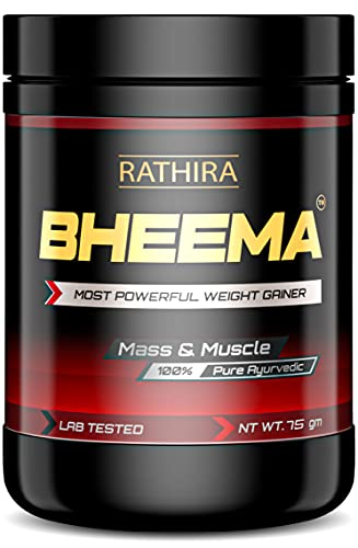 Rathira Ayurveda Bheema Most Powerful Weight Gainer for Men & Women Supplement to Increase Mass and Muscle (75 Grams)