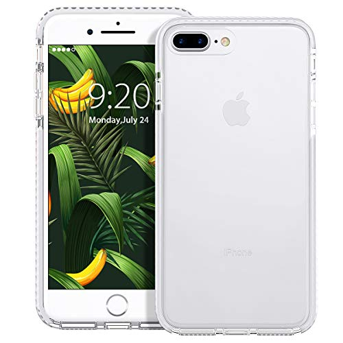 MATEPROX iPhone 8 Plus Case iPhone 7 Plus Case Clear Shield Heavy Duty Anti-Yellow Anti-Scratch Shockproof Cover Compatible with iPhone 8p/7p (White)