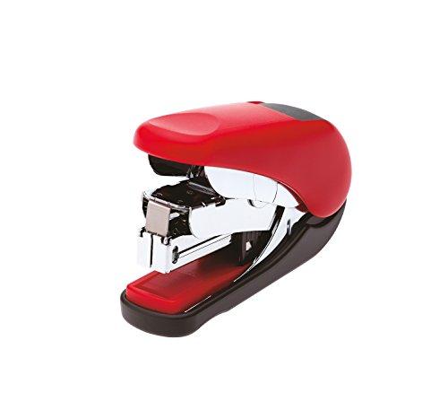 PLUS Japan Mini cucitrice a meccanismo facilitato ST-010V fino a 20 fogli, rossa, punti n. 10