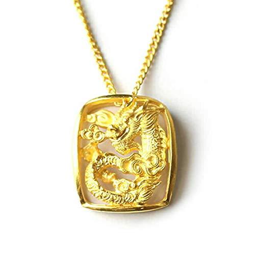 PRIMAGOLD(プリマゴールド) 龍(ドラゴン)モチーフ 純金ペンダント 24Kゴールド 女性用 ピュアゴールド ジュ...