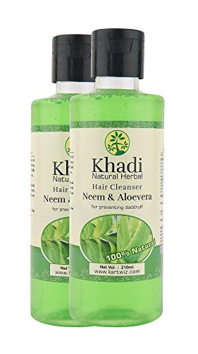 Khadi Herbal Neem & Aloevera Shampoo - 210ml (Set of 2)