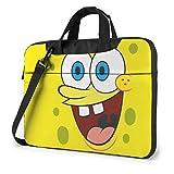15.6 ″ Viaje de Negocios Sponge_Bob Square_Pants Laptop Notebook PC Maletín de Hombro Bolsa de Mensajero Funda