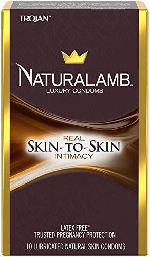 TROJAN NaturaLamb Luxury Latex-Free Condoms, 10 Count