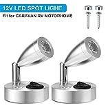 SUPAREE 12V LED Spot Lampe de Lecture Interrupteur Réglable Lumière...