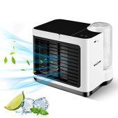 Mini Refrigeratore d'aria NASUM, Mini Condizionatore Portatile, Refrigeratore d'aria USB, Refrigeratore d'aria USB, Refrigerazione, Umidificazione, Utilizzato in Scrivanie, Stanze, Uffici