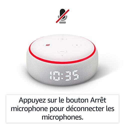 41nQyNEj4FL Notre bon plan !  Echo Dot (3ème génération), Enceinte connectée avec horloge et Alexa + Philips Hue White & Color Pack de 2 ampoules...