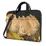 Bolsa de hombro para portátil de 15,6 pulgadas, bonito maletín de conejo, bolsa protectora