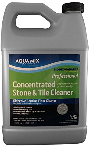 Aqua Mix Concentrated Stone and Tile Effective Routine Floor Cleaner 1 Gallon