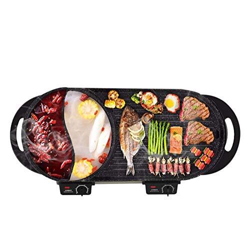 Product Image 1: Liven Electric Grill With Hot Pot SK-J6860 Multifunctional, Indoor Teppanyaki Grill/Korean BBQ/Shabu Shabu Hot Pot, 3.6L Capacity for 2-10 People