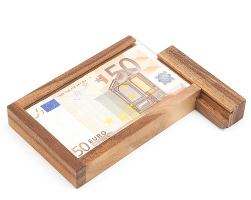 Casa Vivente - Magische Geldgeschenkbox - Knobelspiel aus Holz - Geschenkverpackung mit...