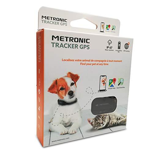 METRONIC 476206 Collier GPS Traceur Chiens et Chats étanche Portée illimitée
