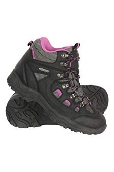 Mountain Warehouse Adventurer Womens Waterproof Hiking Boots Black Womens Shoe Size 8 US