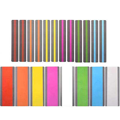 20枚 読書ガイド ハイライト ストリップ 色 重ね合わせ いおり 読書ストリップ カラーオーバーレイ ブック...