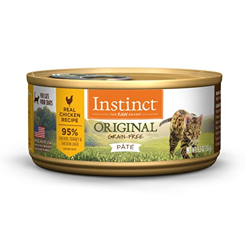 Instinct Original Grain Free Real Chicken Recipe Natural Wet Canned Cat Food, 5.5 oz. Cans (Case of 12)