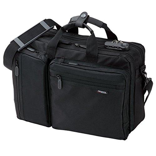 サンワダイレクト 3WAYビジネスバッグ マチ拡張機能・鍵付き 20L 15.6 型ワイド対応 200-BAG048