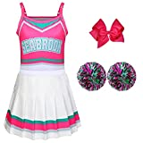Cheerleader Costumes for Girls Girls Costumes Toddler Girls Outfit Fancy Dress for Party Birthday Gift Rose