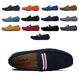 AARDIMI Mocassins en Daim Hommes Penny Loafers Casual Bateau Chaussures de Ville Flats 38-49 (Bleu,44EU)