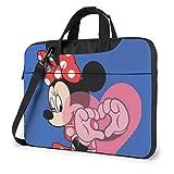 XCNGG Love Minnie Laptop Bag Maletín de Negocios para Hombres y Mujeres, Bandolera de Hombro, Funda para Laptop, Bolsa de Transporte, 15.6 Pulgadas