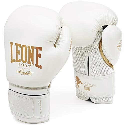 LEONE 1947 GN059 Guantes de Boxeo, Unisex – Adulto, Blanco, 14OZ