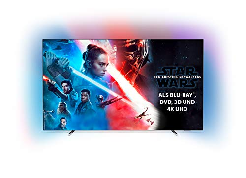 Philips Ambilight 55OLED804 139 cm (55 Zoll) Oled TV (4K UHD, HDR10+, Android TV, Dolby Vision, Google Assistant, Alexa kompatibel)