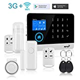 Wireless Home and Business Security Alarm System,433MHz 3G GSM WiFi Smart Security System,Burglar Alarm Security System with Full Touch Screen,Auto Dial and APP Remote Control for Android iOS Support